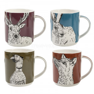 4 Mugs gift box INTO THE WILD